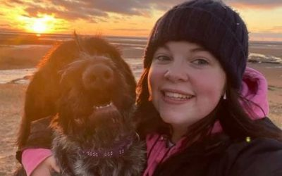 Katie O'Brien and Misty are winners in Kennel Club Dog Walk Challenge